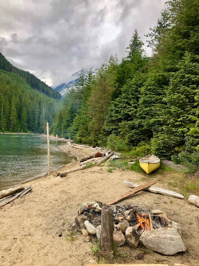 Overnight paddling at Big Eddy Creek on Lake Revelstoke