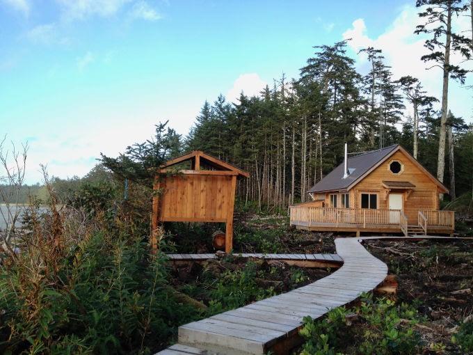 The ranger cabin at Nels Bight